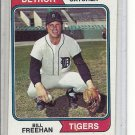 (b-31) 1974 Topps #162: Bill Freehan- Factory Error - Off-Set Angled Cut