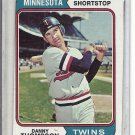 (b-31) 1974 Topps #168: Danny Thompson - Factory Error - Off-Set Angled Cut
