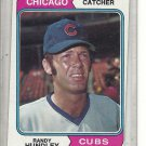 (b-31) 1974 Topps #319: Randy Hundley - Factory Error - Off-Set Angled Cut