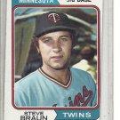 (b-31) 1974 Topps #321: Steve Braun - Factory Error - Off-Set Angled Cut