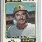 (b-31) 1974 Topps #358: Dal Maxvill - Factory Error - Off-Set Angled Cut