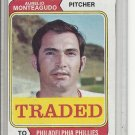 (b-31) 1974 Topps Traded #139T: Aurelio Monteagudo - Factory Error - Off-Set cut