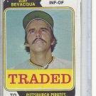 (b-31) 1974 Topps Traded #454T: Kurt Bevacqua - Factory Error - Severe off-set cut