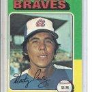 (b-31) 1975 Topps #499: Marty Perez - Factory Error - Severe off-Set Cut
