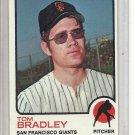 (b-31) 1973 Topps #336: Tom Bradley - Factory Error - off-set Cut