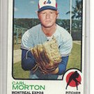 (b-31) 1973 Topps #331: Carl Morton - Factory Error - off-set Cut