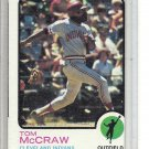 (b-31) 1973 Topps #86: Tom McCraw - Factory Error - off-set Cut