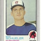 (b-31) 1973 Topps #169: Ron Schueler - Rookie - Factory Error - off-set Cut