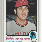 (b-31) 1973 Topps #157: Dennis Riddleberger - Factory Error - off-set Cut