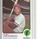 (b-31) 1973 Topps #425: Alex Johnson- Factory Error - off-set Cut