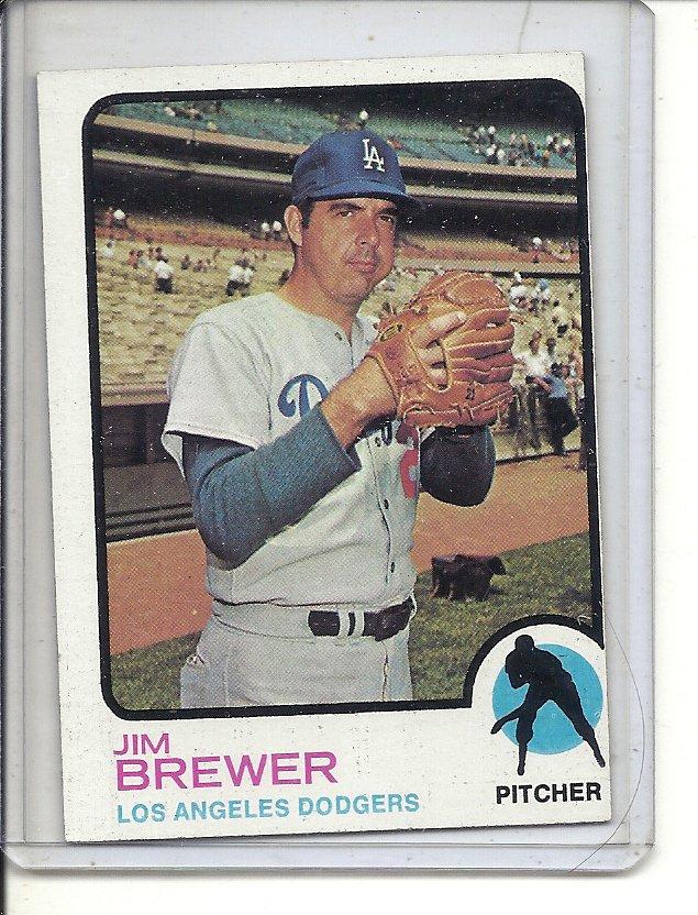 (b-31) 1973 Topps #126: Jim brewer - Factory Error - off-set Cut