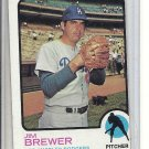 (b-31) 1973 Topps #126: Jim brewer - Factory Error - off-set Cut