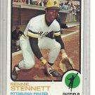 (b-31) 1973 Topps #348: Rennie Stennett - Factory Error - off-set Cut