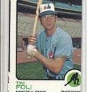 (b-31) 1973 Topps #19: Tim Foli - Factory Error off-set cut