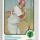 (b-31) 1973 Topps #156: Cesar Geronimo - Factory Error off-set cut