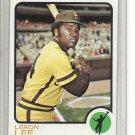(b-31) 1973 Topps #83: Leron Lee - Factory Error off-set cut