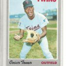 (b-31) 1970 Topps #25: Cesar Tovar - Factory Error off-set cut