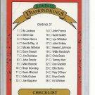 (b-30) 1987 Donruss Diamond Kings #27: Checklist- clean / unmarked