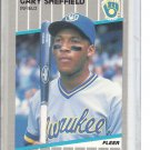 (b-30) 1989 Fleer #196: Gary Sheffield - Rookie