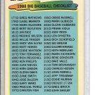 (b-30) 1988 Topps Big Baseball #216- Checklist - clean/ unmarked
