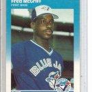(b-30) 1987 Fleer Update #U-75: Fred McGriff - Rookie