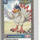 (b-30) 1999-2000 Digimon Card #34 of 34: Kokatorimon