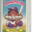 (b-30) 1986 Garbage Pail Kids Sticker Card #140b: Tooth Les