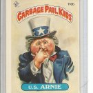 (b-30) 1986 Garbage Pail Kids Sticker Card #110b: U.S. Arnie