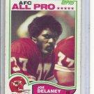 (b-30) 1982 Topps Football #112: Joe DeLaney - All-Pro - Rookie