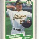 (b-30) 1990 Fleer #15: Mark McGwire