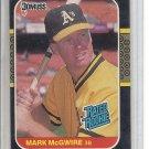 (b-30) 1987 Donruss #46: Mark McGwire - Rated Rookie
