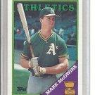 (b-30) 1988 Topps #580: Mark McGwire