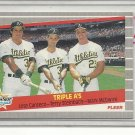 (b-30) 1989 Fleer #634 SuperStar Specials - Canseco/Steinbach/McGwire