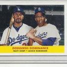 (b-30) 2012 Topps Archives Retail Combos 58-Kr Matt Kemp Jackie Robinson...