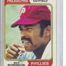 (b-30) 1974 Topps #174: Bill Robinson - Factory Error - Slight Off-Set Cut