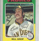 (b-30) 1975 Topps #168: Bill Greif - Factory Error Off-Set Cut