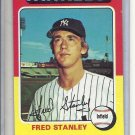 (b-30) 1975 Topps #503: Fred Stanley - Factory Error Off-Set Cut