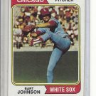 (b-30) 1974 Topps #147: Bart Johnson - Factory Error Off-Set Angled Cut