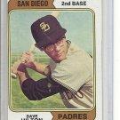 (b-30) 1974 Topps #148A: Dave Hilton ( Padres ) - Factory Error Off-Set cut