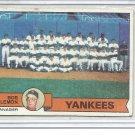 (b-30) 1979 Topps # 626: Bob Lemon - Manager - Yankees Checklist