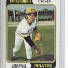 (b-30) 1974 Topps #123: Nelson Briles - Factory Error Off-Set Cut