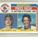(b-30) 1982 Topps #786: Mike Torrez / Carney Lansford - Red Sox Team List