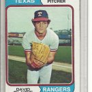 (b-30) 1974 Topps #133: David Clyde - Rookie - Factory Error Off-Set Angle cut