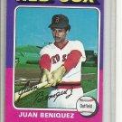 (b-30) 1975 Topps #601: Juan Beniquez - Factory Error - Severe Off-Set Cut