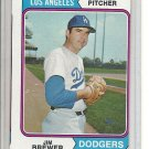 (b-30) 1974 Topps #189: Jim Brewer - Factory Error Off-Set Cut