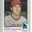 (b-30) 1973 Topps #157: Denny Riddleberger - Factory Error - Off-Set Cut