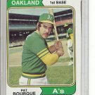 (b-30) 1974 Topps #141: Pat Bourque - Factory Error - Off-Set Angled Cut
