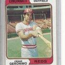 (b-30) 1974 Topps #181: Cesar Geronimo - Factory Error Off-Set Cut