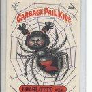 (B-1) 1986 Garbage Pail Kids #98a: Charlotte Web