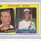 (B-1) 1985 Topps #134: Francona - Father / Son series
